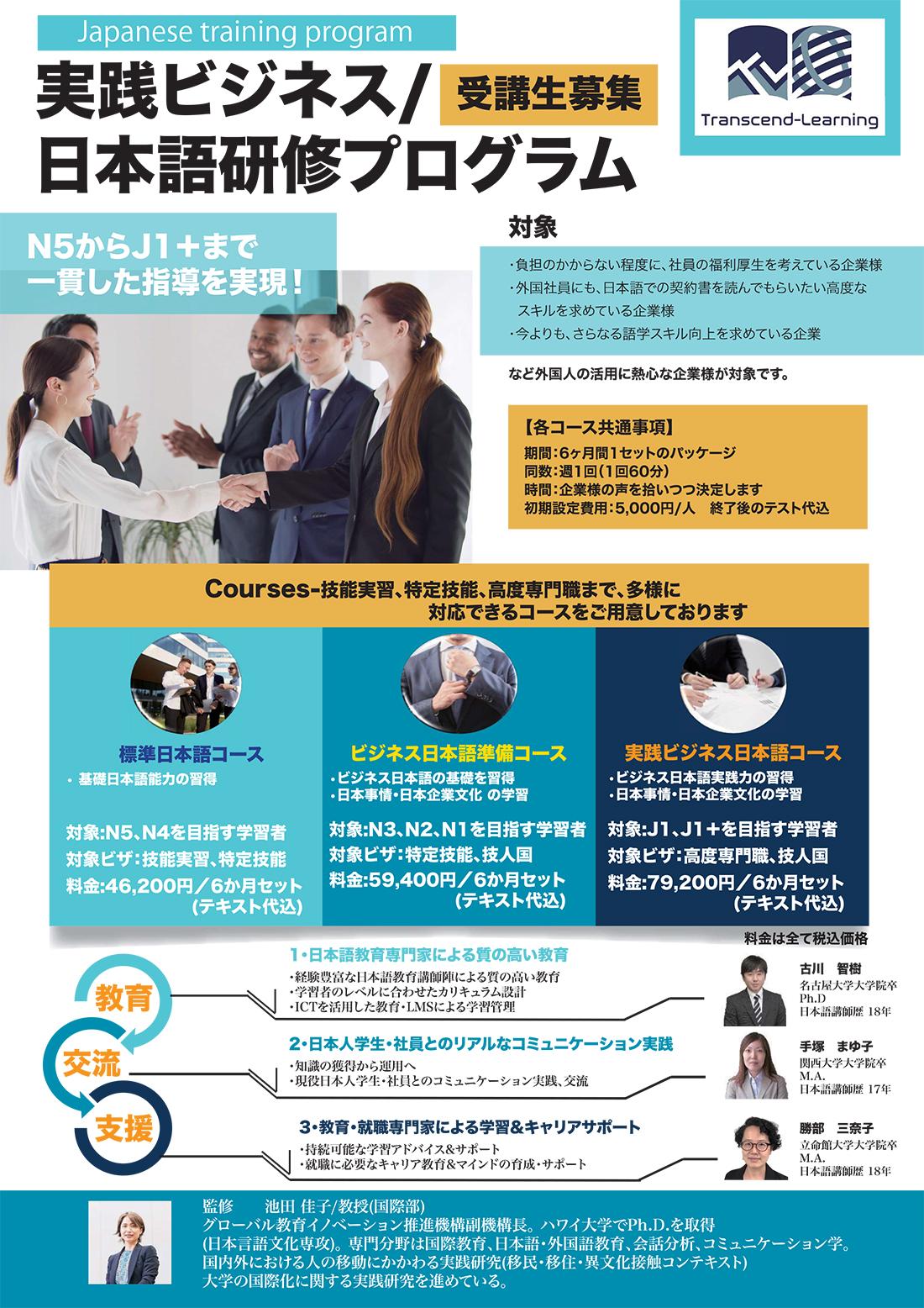 実践ビジネス日本語 研修プログラム01